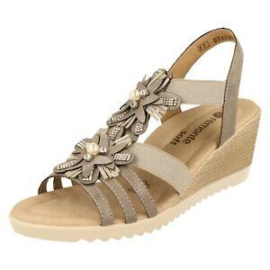 Ladies Remonte Wedge Sandals - D3462