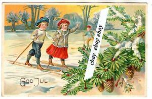 Early 1900 Beautiful Antique Embossed Christmas Postcard Sweden Swedish Ebay