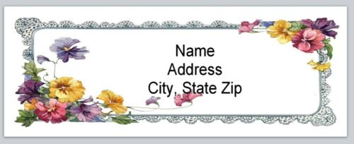 Personalized Address Labels Vintage Spring Flowers Buy 3 get 1 free bx 562