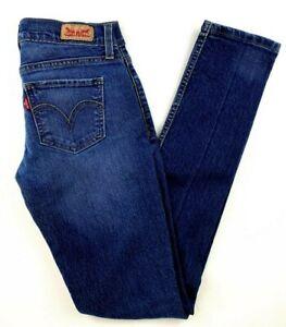 Levi-039-s-Women-039-s-Jeans-Size-1-524-Too-Superlow-Skinny-Dark-Wash-Stretch-Blue-Denim