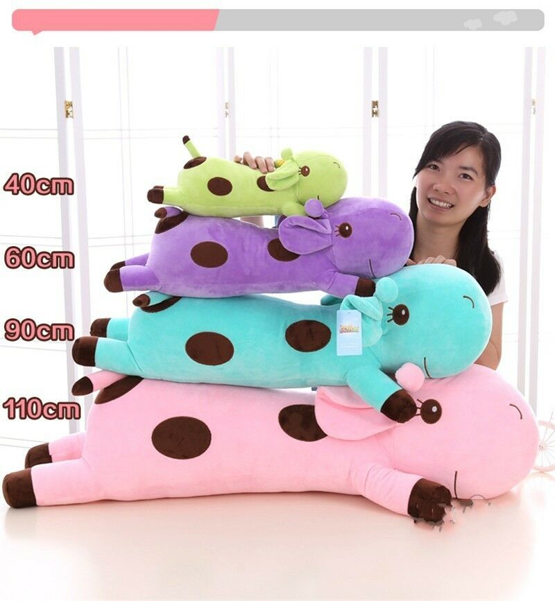 Giraffe Deer lungo Cushion Pillow Stuffed Animal Plush bambino bambino bambino Soft giocattolo bambola Gifts 9e6b26