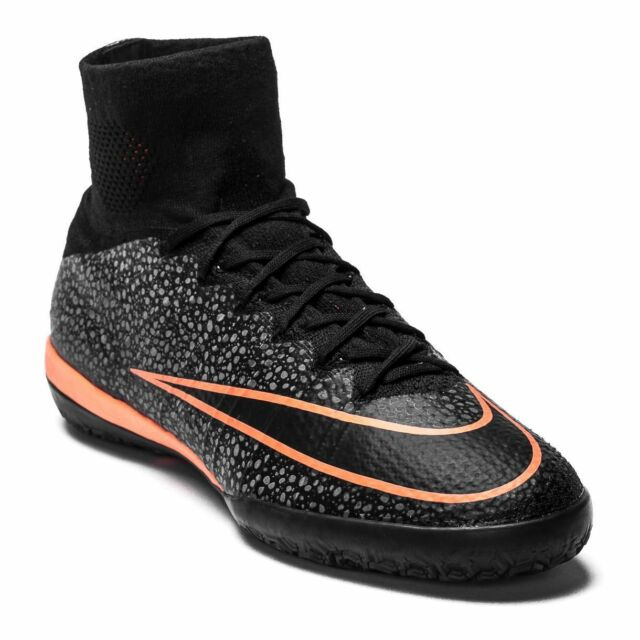 314571643 New Nike Men s Mercurialx Proximo IC Athletic Shoes Black Mango 718774-008