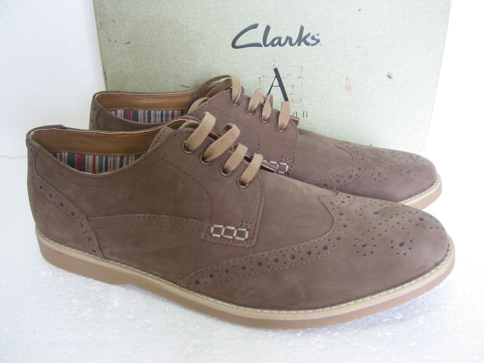 NEW CLARKS FUSE LIMIT LEATHER BROGUES LACE UP SHOES SIZE 7.5 & 8 & 10 G