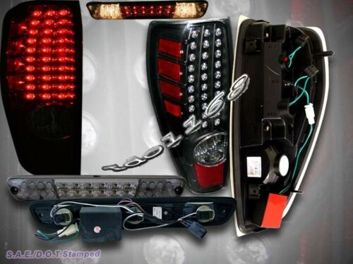 04-09 CHEVY COLORADO LED BRAKE LIGHT SMOKE GMC CANYON LED TAIL LIGHTS BLACK