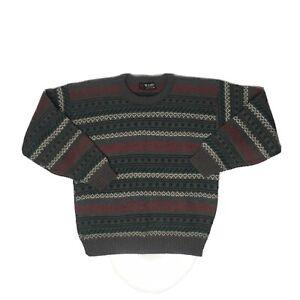 VTG-Scandia-COOGI-Style-Strick-Pullover-Herren-M-Biggie-Bill-Cosby-USA-Made-Shirt-gestreift