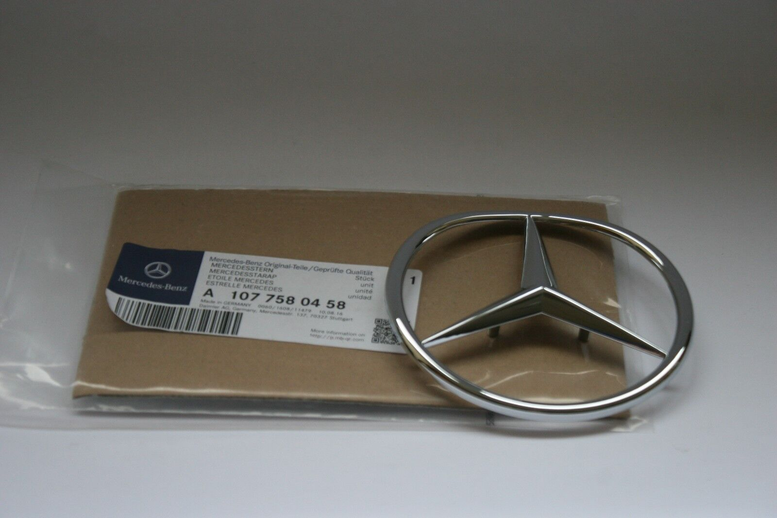 Mercedes-Benz W126 500SE Rear trunk badge logo emblem A1268170515 Original