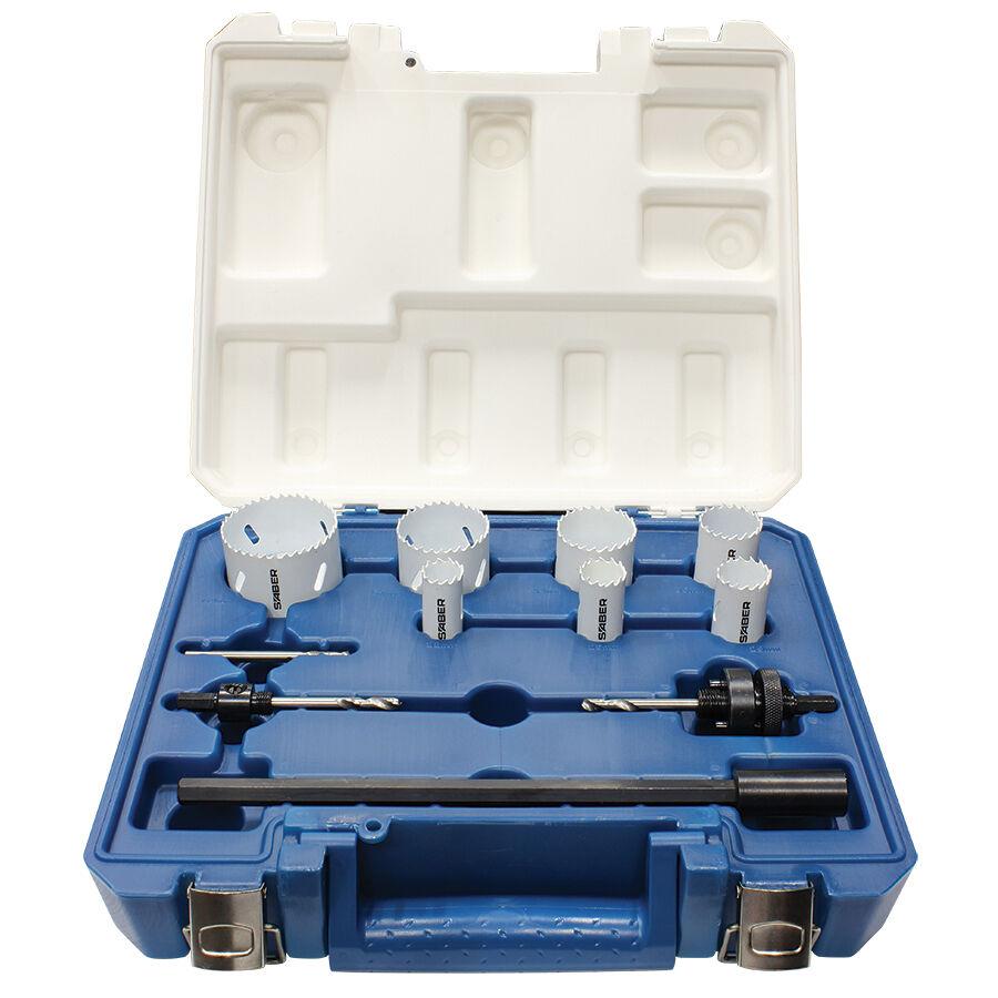 Saber ELECTRICIAN'S HOLESAW SET - HSS11PCELSAB 11Pcs,300mm Bar,Progressive Tooth