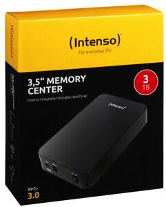 Intenso HDD externe Festplatte Memory Center 3,5 Zoll 3TB USB 3.0 schwarz