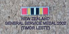 NEW ZEALAND GSM 2002 (TIMOR LESTE) RIBBON BAR 5X19MM ENAMEL & NICKEL PLATED