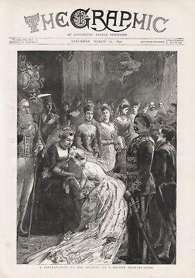 Gehoorzaam Old Antique 1890 Print Royalty A Presentation To Her Majesty B49 Tekorten