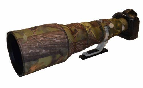 Canon 600 Mm F4 es Mk2 Neopreno Lente protección Camo Abrigo cubierta de bosque Verde
