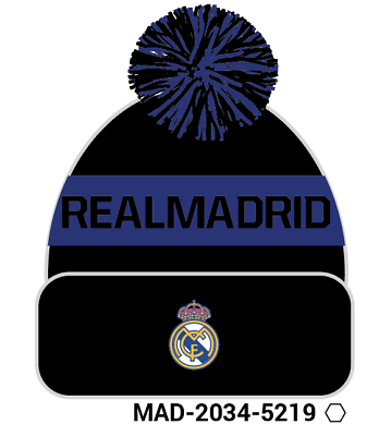 Real Madrid Pom Beanie/toque Officially Licensed Fi Collection Sports Mem, Cards & Fan Shop