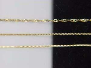 Solid-10k-yellow-gold-Chain-Necklace-Box-chain-Rope-chain-Cable-chain-10kt-gold