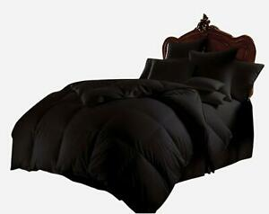 Down-Alternative-Bedspread-Comforter-Egyptian-Cotton-1000-TC-Black-Select-Size