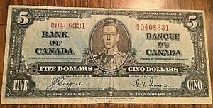 1937-CANADA-5-DOLLARS-BANK-NOTE-B-S-Coyne-Towers