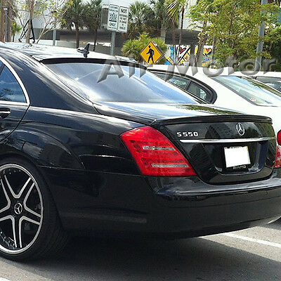 Carbon L Type Roof Top Window Spoiler Wing fit for Mercedes W221 S-Class Sedan