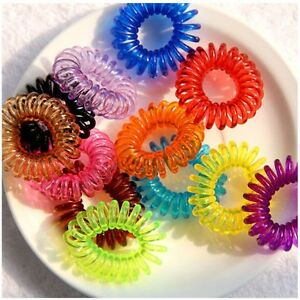10X-Girl-Baby-Spiral-Elastic-Rubber-Hair-Ties-Rope-Ponytail-Holder-Bobbles-Band