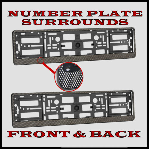 2x Number Plate Surrounds Holder Carbon for Vauxhall Insignia