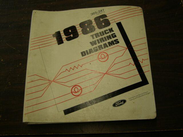 Oem Ford 1986 Truck Wiring Diagram Book F100 Bronco