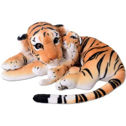 TE-Trend 2in1 Plüsch Tiger Tigerbaby Raubkatze Kuscheltier 60cm Stofftier braun