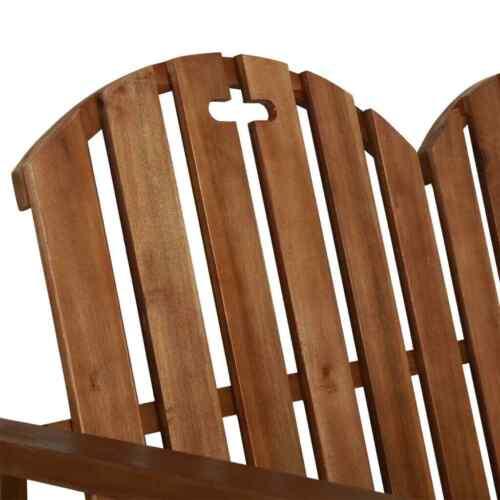 "vidaXL Solid Acacia Wood Garden Bench 43.3/"" Outdoor Patio Lounge Bed Seating"