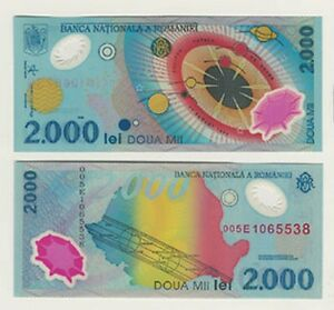 Romania-2000-Lei-Bank-Notes-Set-Of-5-Uncirculated-Consecutive-Numbers-L-K