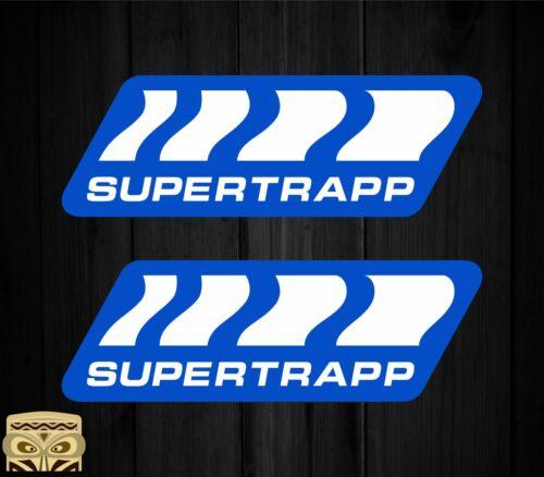 Autocollant Sticker Aufkleber Adesivi Décalcomanie X2 Supertrapp Laminé