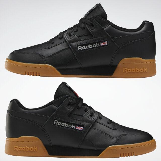 Reebok Classic Workout Plus Black Carbon Mens Shoes CN2127 New Sz 8