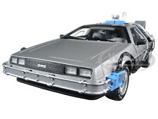 BACK TO THE FUTURE TIME MACHINE DELOREAN 1/18 DIECAST MODEL BY HOTWHEELS CMC98