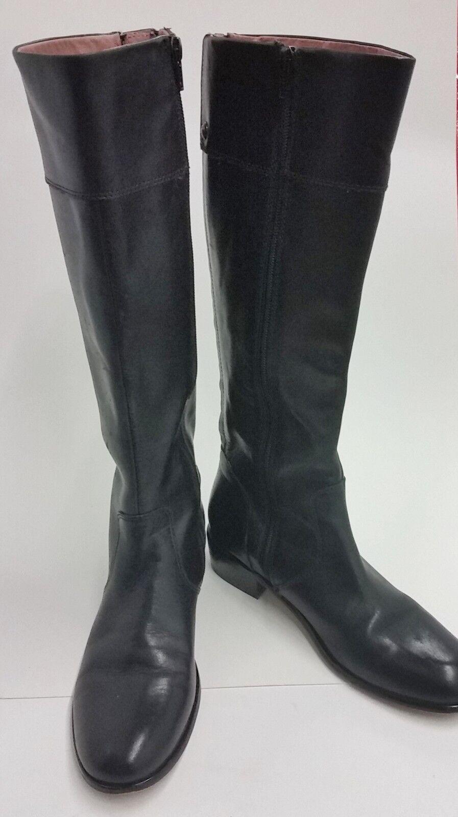 Corso Como Shoes Boots Knee-ni Zipper Elastic  Black Womens Size 6.5 M