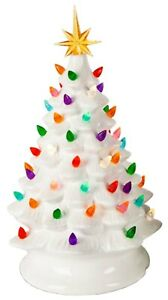 Vintage-White-Nostalgic-Gum-Drop-Lighted-Ceramic-Christmas-Tree-Table-Top-Decor