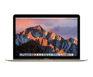 """Discret Apple Macbook Gold Notebook 30.5 Cm (12"""") 2304 X 1440 Pixels 1.3 Ghz 7th Gen Int-afficher Le Titre D'origine Cool En éTé Et Chaud En Hiver"""
