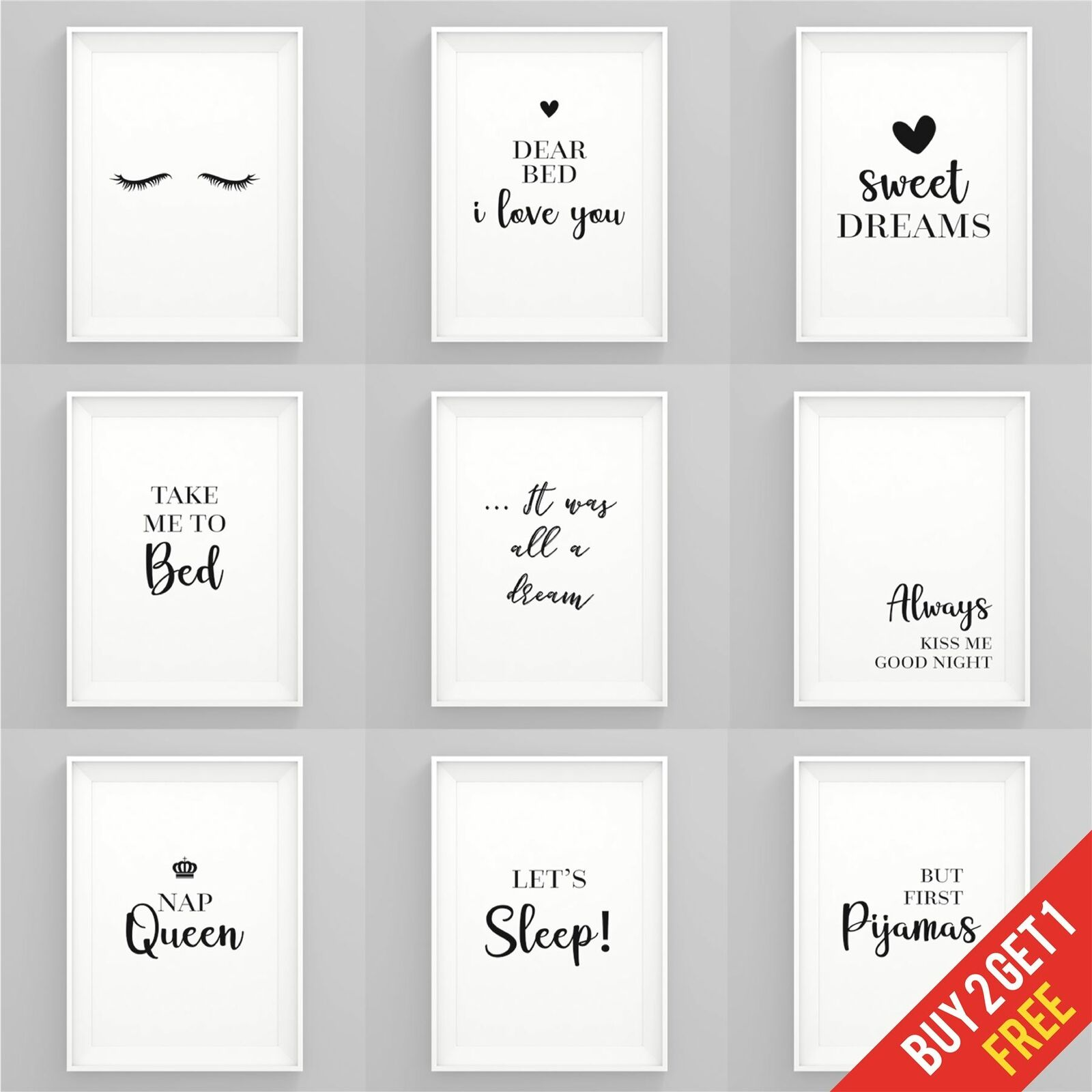 Bedroom Prints Black and White Art Prints for Bedroom Framed Wall Art Quotes
