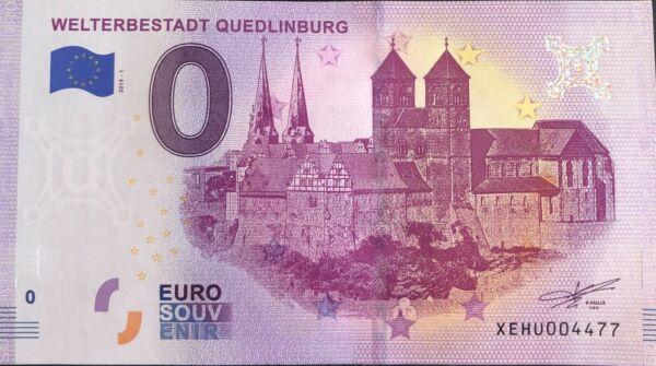 Ambitieux Billet 0 Euro Weterbestadt Quedlindburg Allemagne 2019-1 Numero 4477 Pratique Pour Cuire