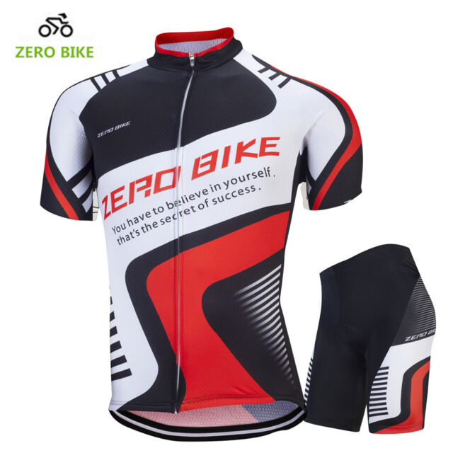 Mens Cycling Bike Short Sleeve Clothing Bicycle Sports Wear Set Jersey & Shorts