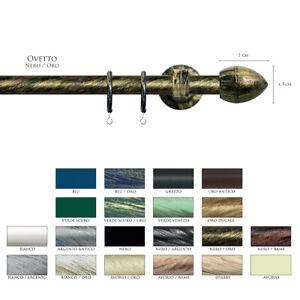 Scorritenda-Corda-Strappo-Bastone-20mm-Tenda-Ferro-Battuto-Terminale-OVETTO-Vami