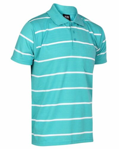 NUOVISSIMA LINEA UOMO A Righe Polo T Shirt A Manica Corta Casual Vestibilità Normale misura s-3xl