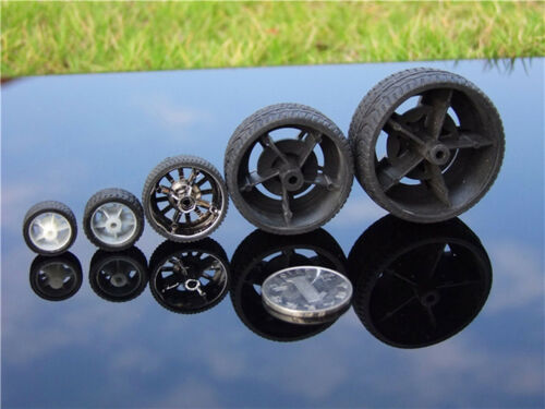 4X Rubber tire wheel RC model toy car accessories dia16mm 22mm 26mm 38mm 48mm J/&