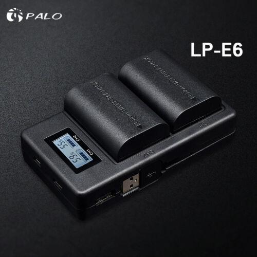 Cámara Cargador De Batería Para Canon 6D Mark 5D 60D 7D 80D DSLR II Herramienta Negro Regalo