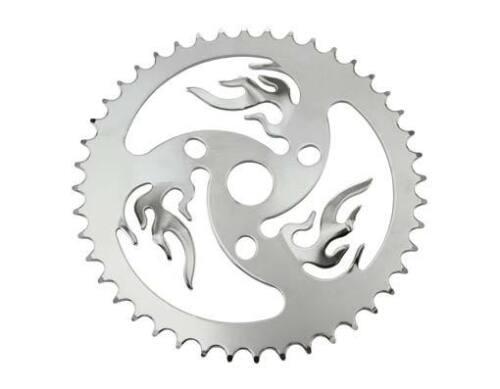 "Vélo BMX CHAINRING Sprocket Fire 44 T X 1//2/"" X 1//8/"" Chrome ou Noir Cruiser Bike"