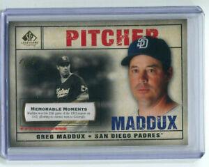 2008-SP-Legendary-Moments-Greg-Maddux-1-1-San-Diego-Padres