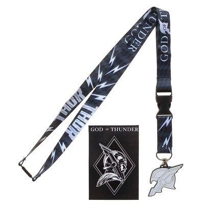 Mighty Thor God of Thunder ID Badge Holder Lanyard /& Keychain Ragnarok Bundle