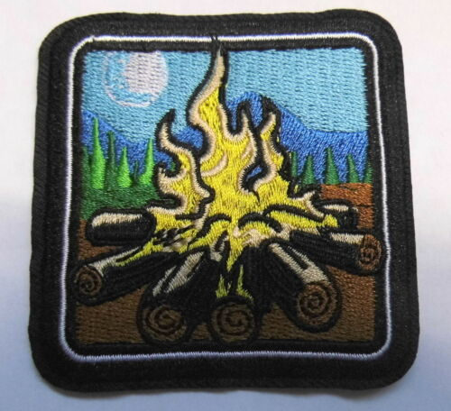 Aufnäher Lagerfeuer Outdoor Wildness Patch Camp Fire Camping Pfadi