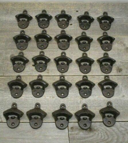 25 Rustic Cast Iron BOTTLE OPENER Wall Mounted Beer Bottle Kitchen Bar Wholesale