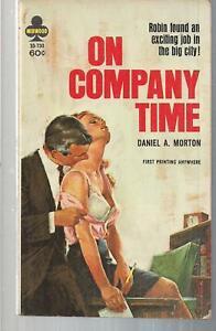 On-Company-Time-Midwood-33-730-1966-PBO-Daniel-A-Morton-GGA-Erotica-Sleaze