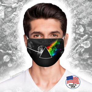 Pink-Floyd-face-mask-Dark-Side-of-Moon-Triangle-Space-Rock-Reusable-amp-Washable