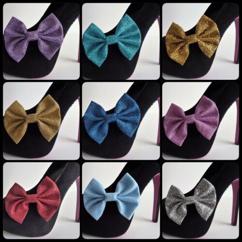 arcs uniquement Paire de paillettes shoe bow clips-rockabilly burlesque pour talons