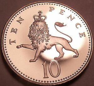 Gem Cameo Proof Great Britain 1985 10 New Pence~Incredible Lion~Free Shipping