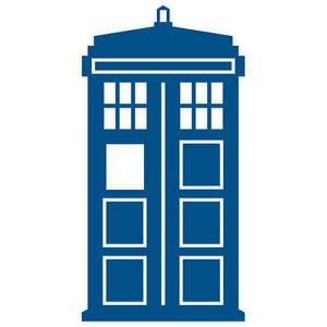 doctor who tardis car sticker 200mm front version ebay