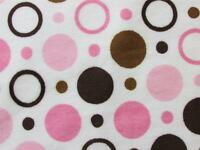 Brown pink paisley floral minkee minky sew fabric 30x36 ebay for Space minky fabric